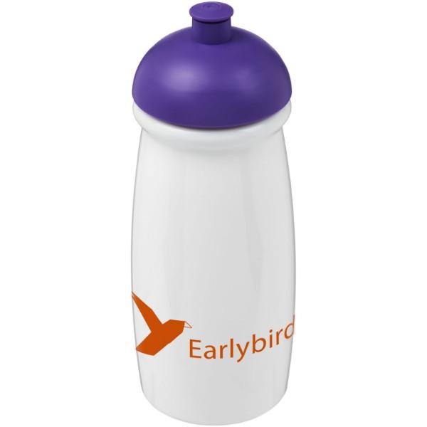 Sportovní láhev s kupolovitým víčkem H2O Pulse® 600 ml - Bílá / Purpurová