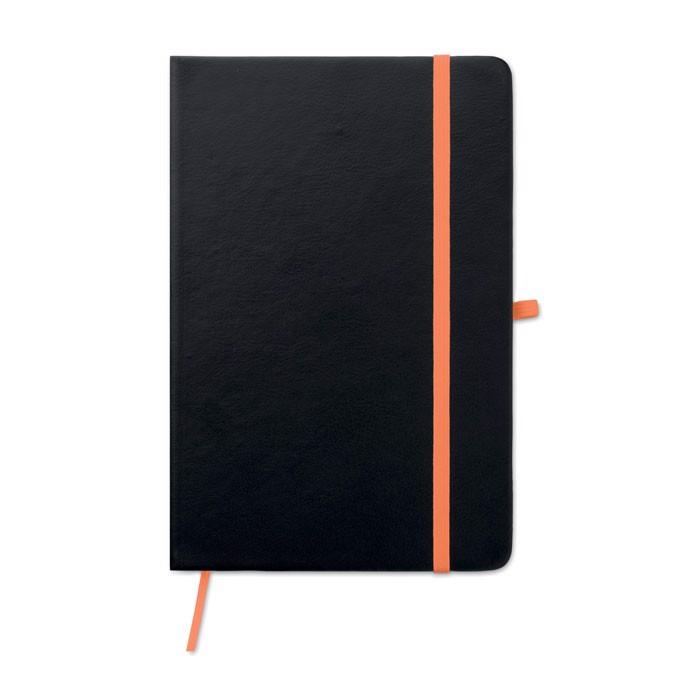 Notatnik z okładką z PU Laser Note - pomarańczowy
