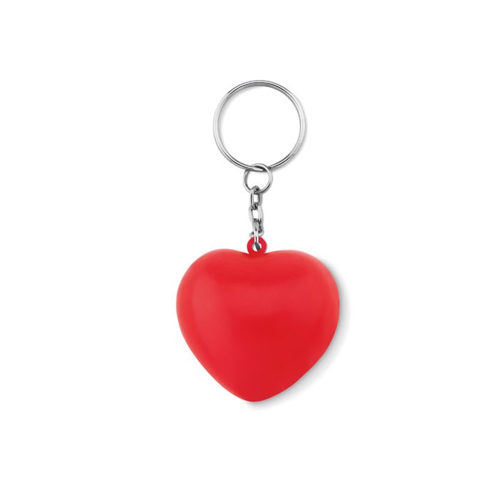 Keyring with PU heart Lovy Ring