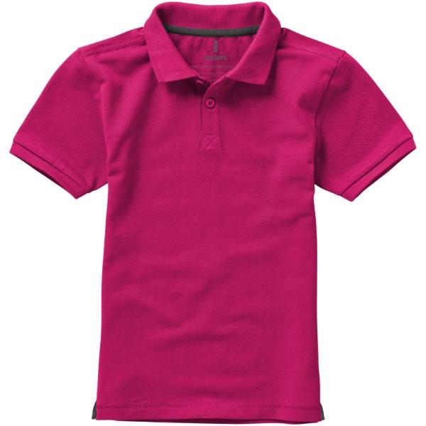 Calgary short sleeve kids polo - Magenta / 152
