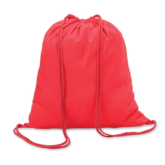 100gr/m² cotton drawstring bag Colored - Red