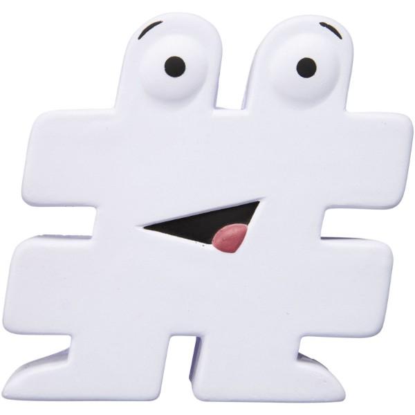 Hashtag stress reliever - White