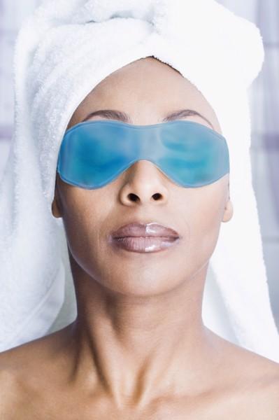 Hladilna maska za oči Frio - modra