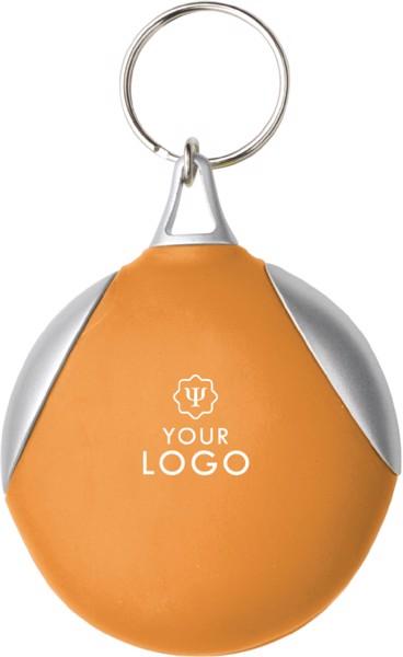 Vinyl key holder with fibre cloth - Orange