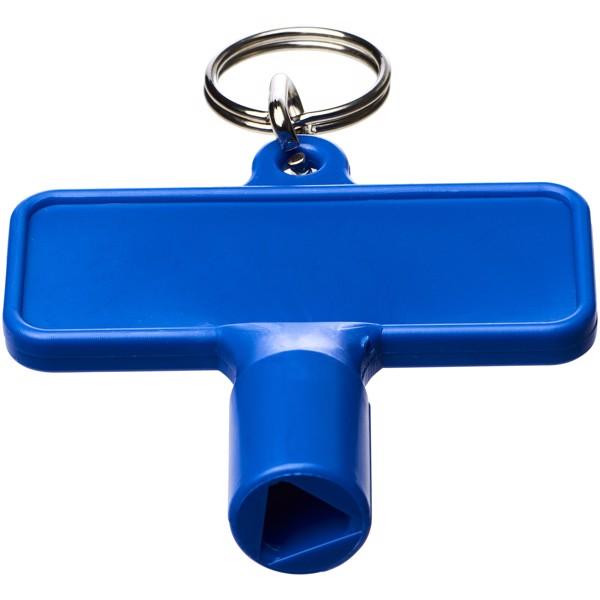 Maximilian obdélníkový montážní klíč s klíčenkou - Modrá