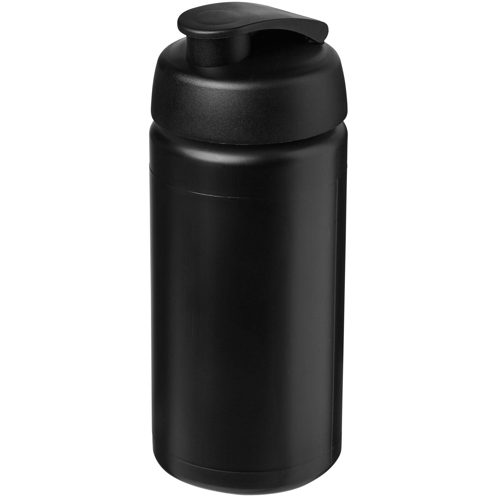 Sportovní láhev s vyklápěcím víčkem Baseline® Plus grip 500 ml - Černá