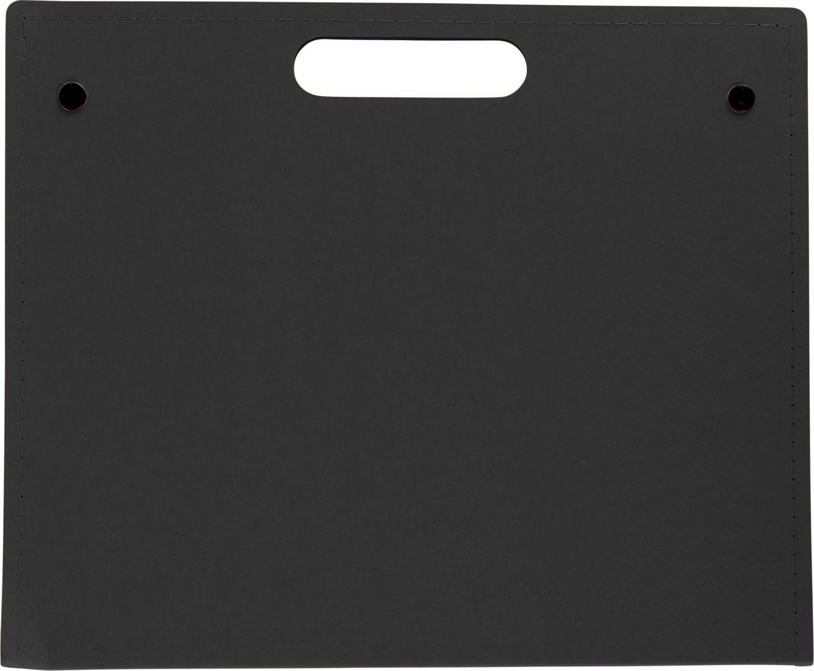 Cardboard writing folder - Black