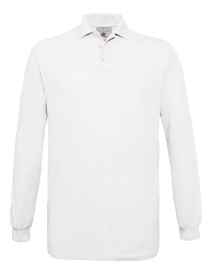 Polo Safran Longsleeve / Unisex - White / M