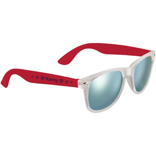 Sun Ray sunglasses with mirrored lenses - Red