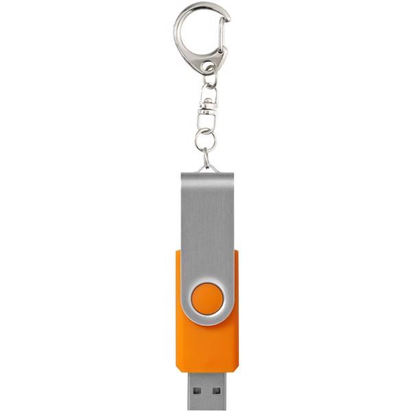 Rotační USB s klíčenkou - 0ranžová / 4GB