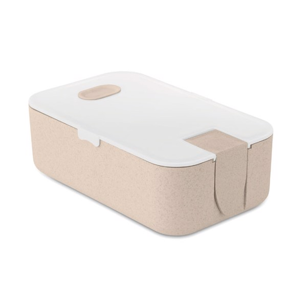Lunchbox wheat straw fibre/PP Lunch2go - White