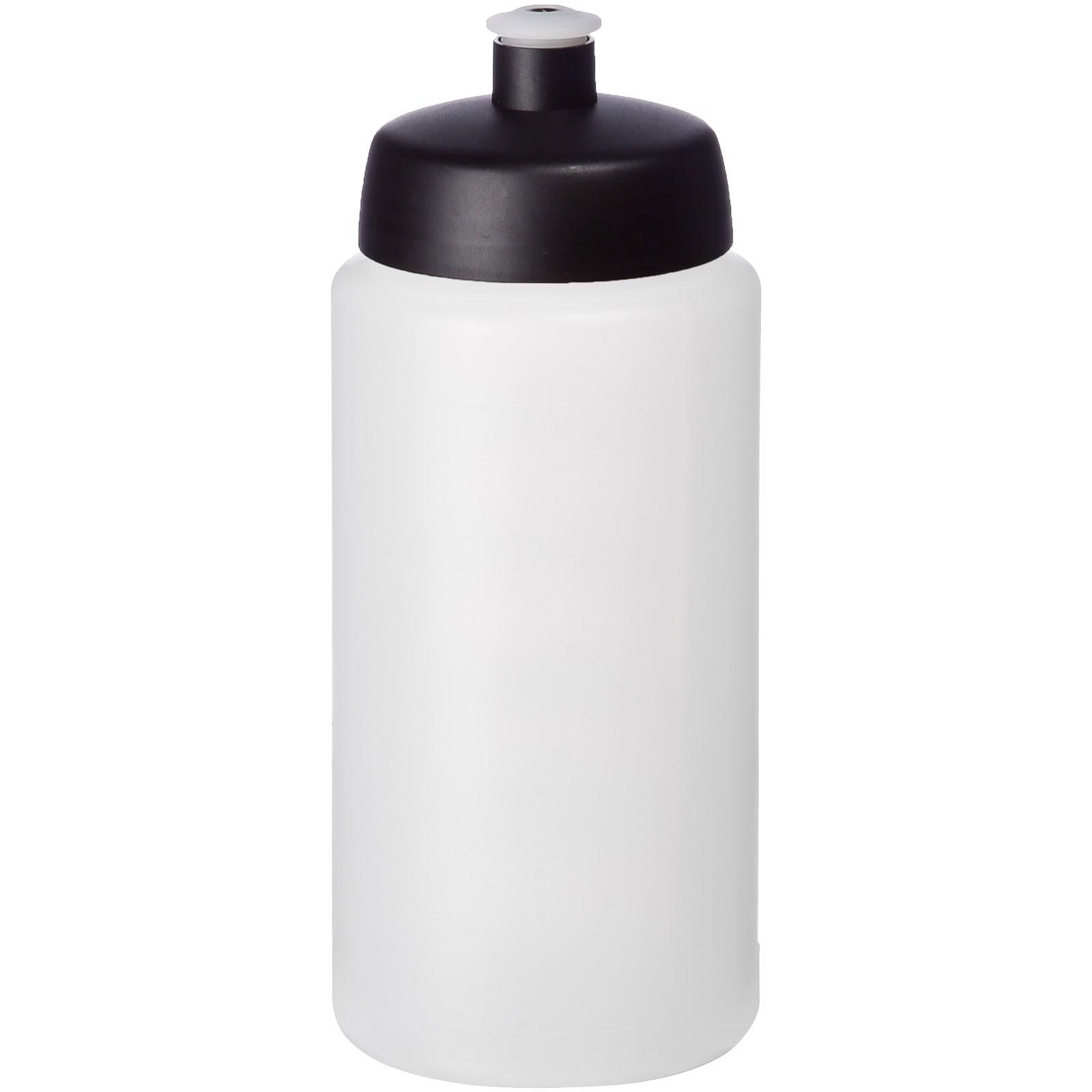 Baseline® Plus grip 500 ml sportovní lahev s víčkem na sport - Průhledná / Černá