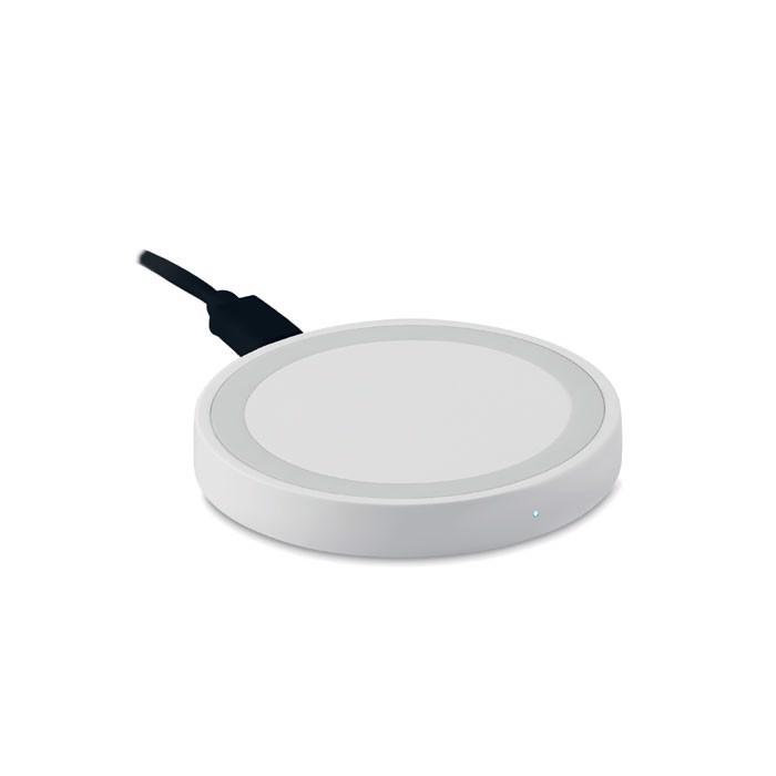Kerek vezeték nélküli töltő Wireless Plato - fehér-TESZT