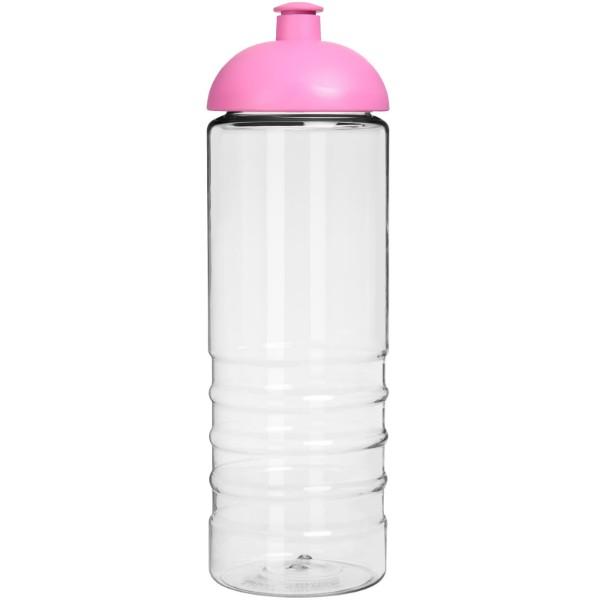H2O Treble 750 ml sportovní lahev s kupolovitým víčkem - Průhledná / Růžová