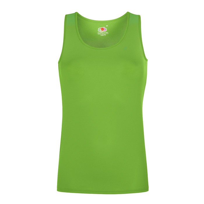 Damen T-Shirt Sport Lady-Fit Vest 61-418-0 - Lime / L