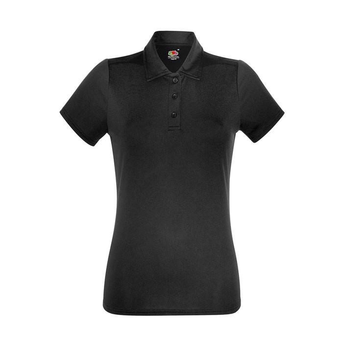 Dámské funkční polo tričko Lady-Fit Polo 63-040-0 - Black/Black Opal / L