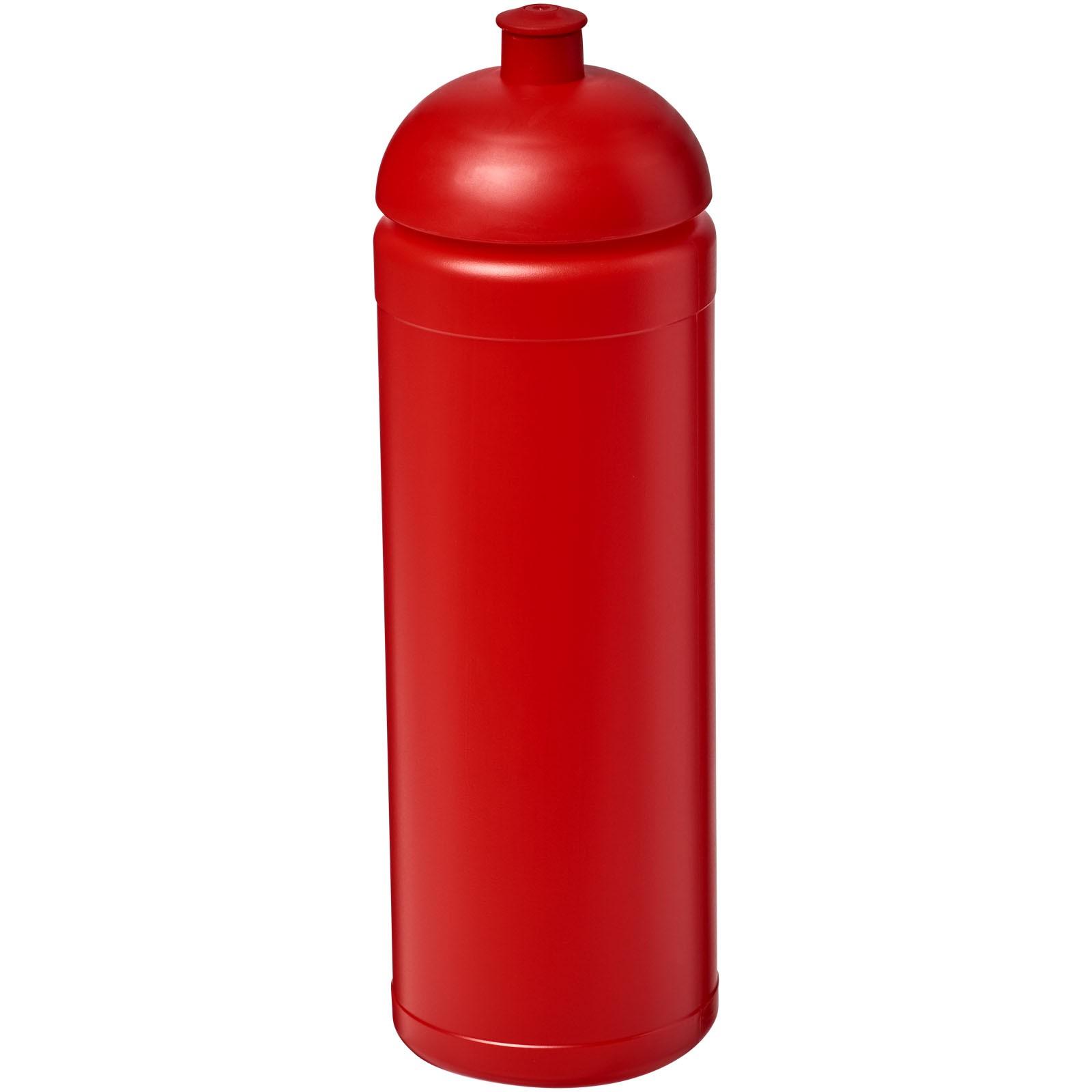 Sportovní láhev s kupolovitým víčkem Baseline® Plus 750 ml - Červená s efektem námrazy