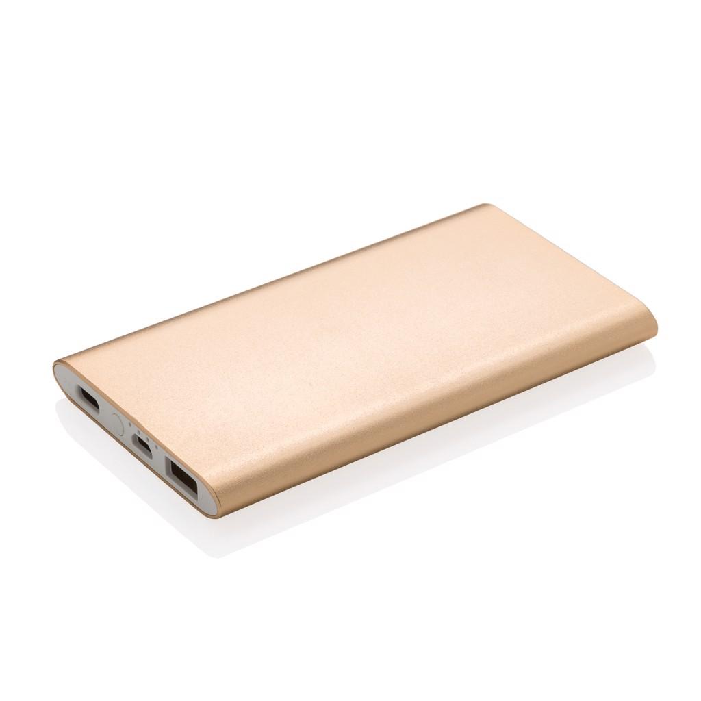 Powerbanka 4 000 mAh s USB C - Zlatá