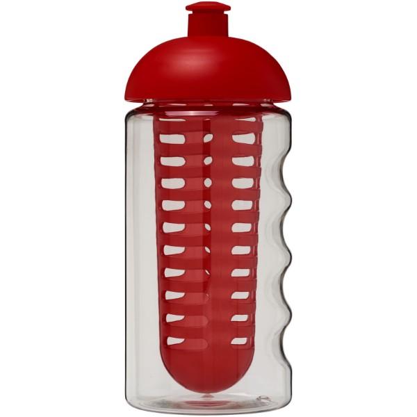 H2O Bop® 500 ml dome lid sport bottle & infuser - Transparent / Red