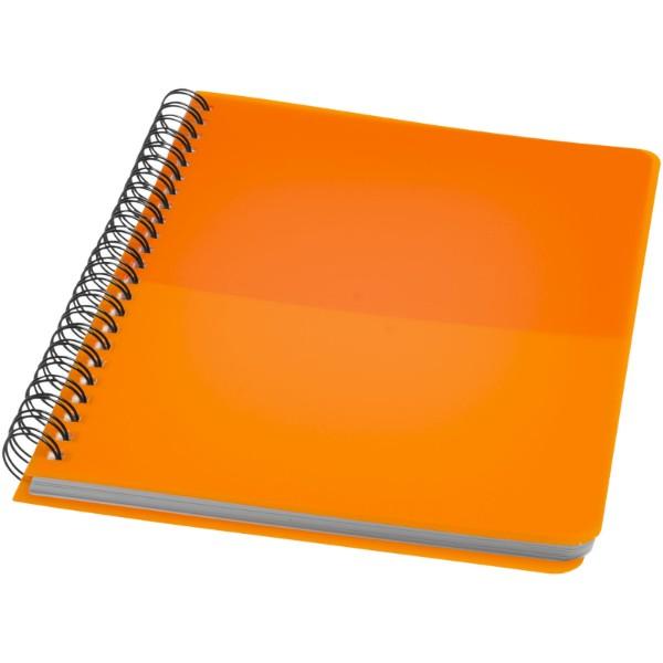 Colour-block A5 spiral notebook - Orange