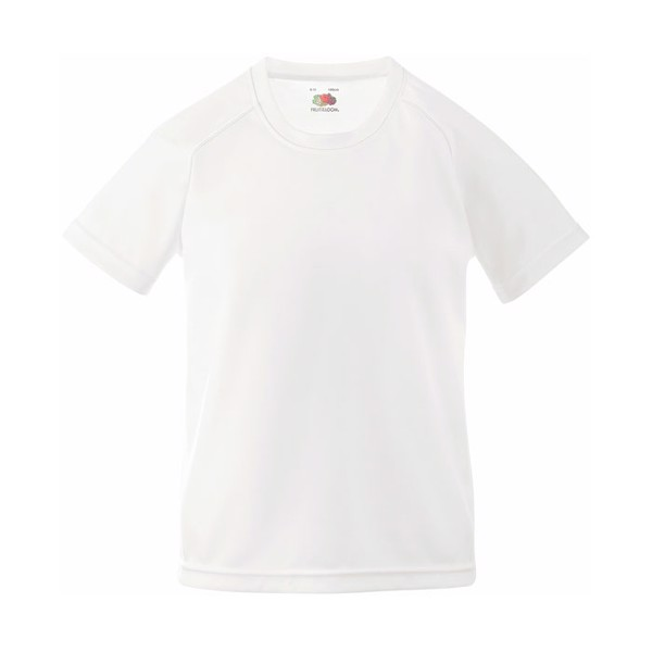 Kinder T-Shirt Sport Kids Performance 61-013-0 - White / L