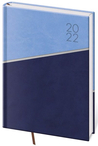 Denní diář A5 Line modrý 2022