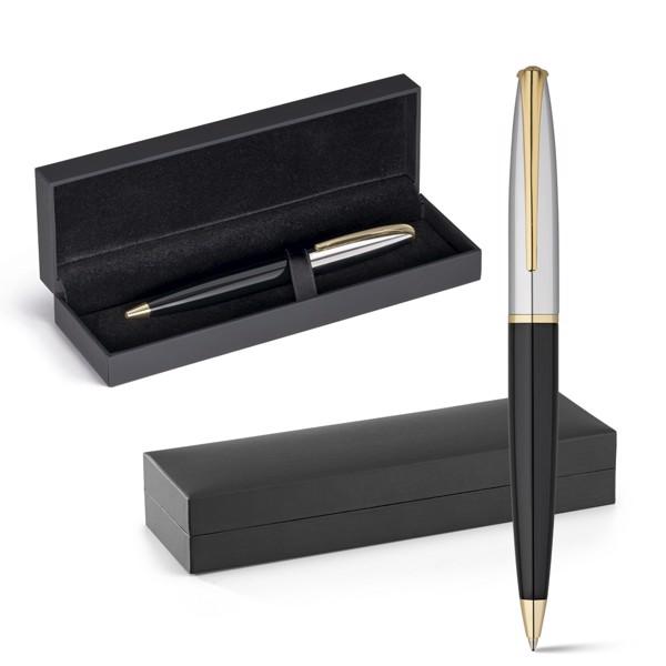 LOUVRE. Μεταλλικό στυλό διαρκείας με χρυσά στοιχεία