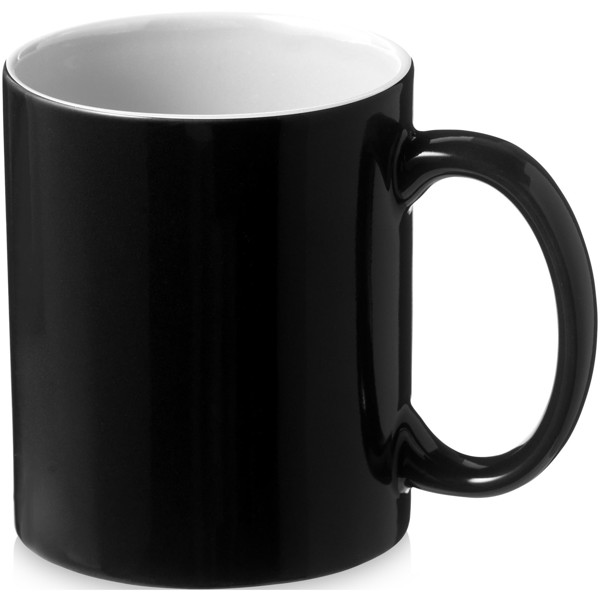 Java 330 ml ceramic mug - White / Solid black