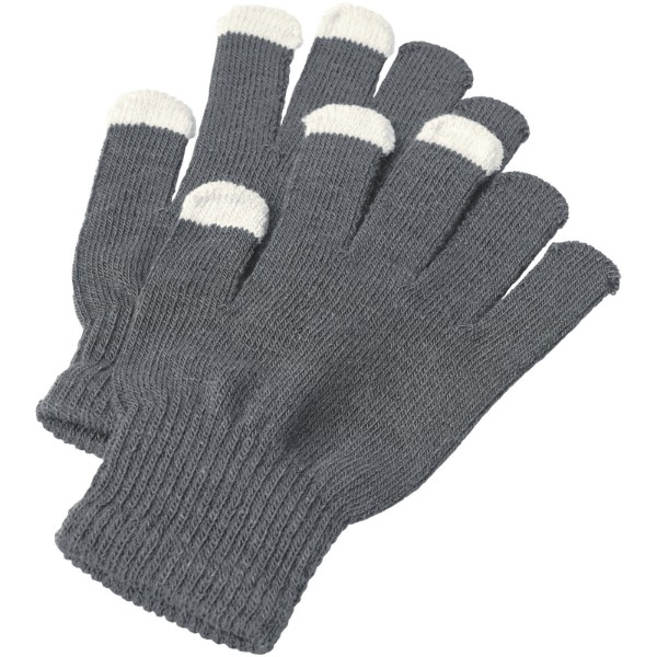 Billy tactile gloves - Dark grey