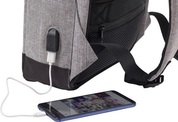 Polyester (600D) backpack - Light Grey