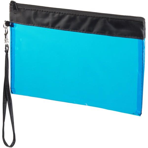 Sid seethrough travel pouch - Transparent Blue