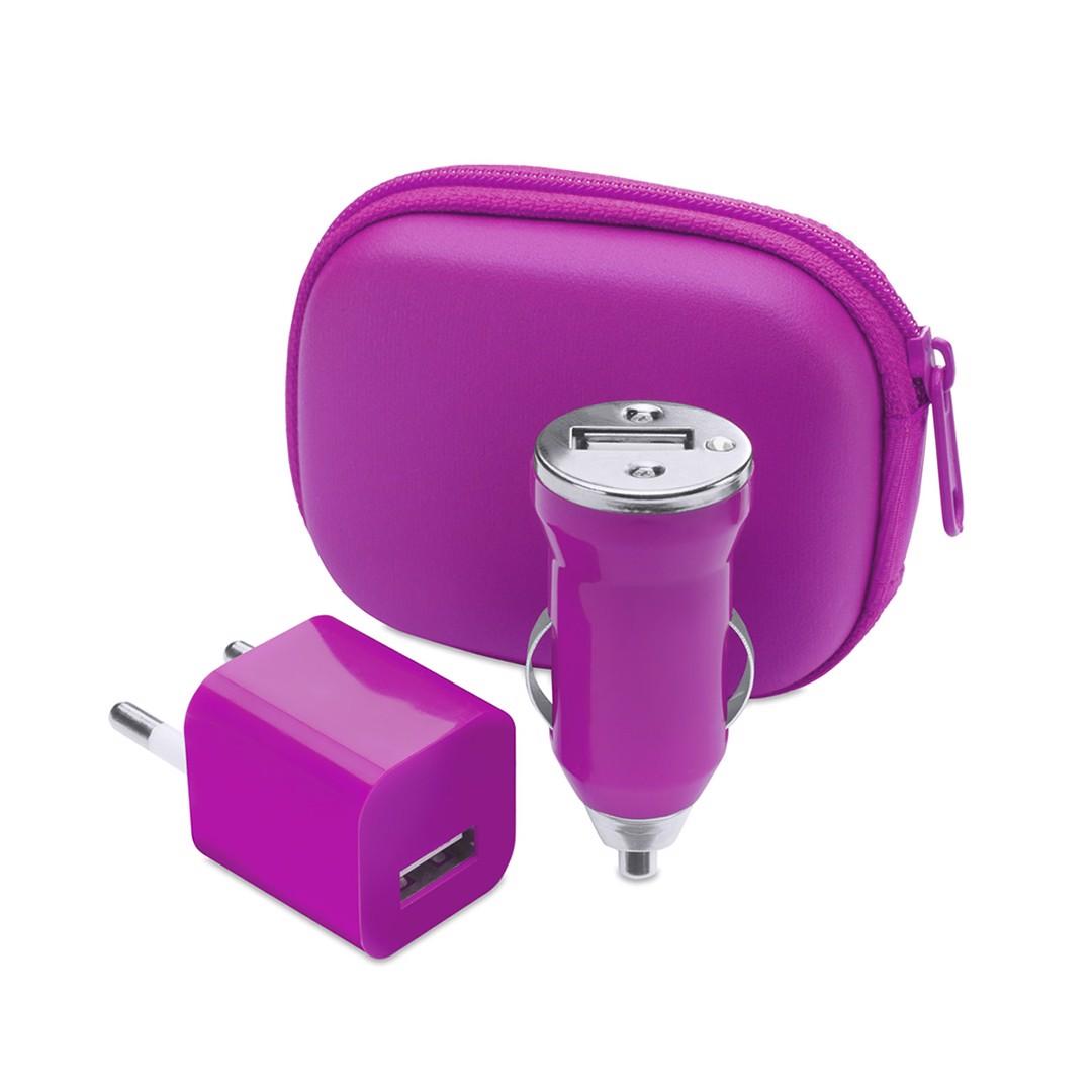 Set Carregador USB Canox - Fucsia
