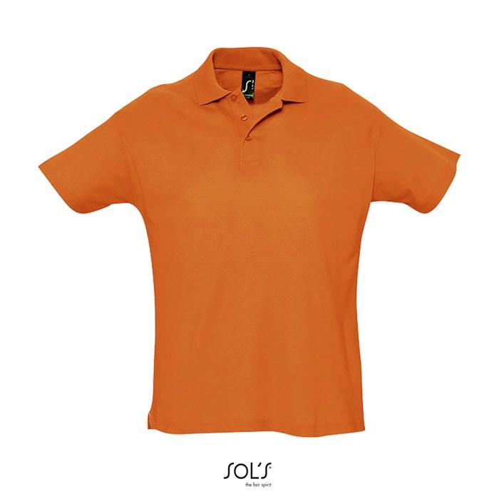 SUMMER II POLO HOMBRE 170g - Naranja / S