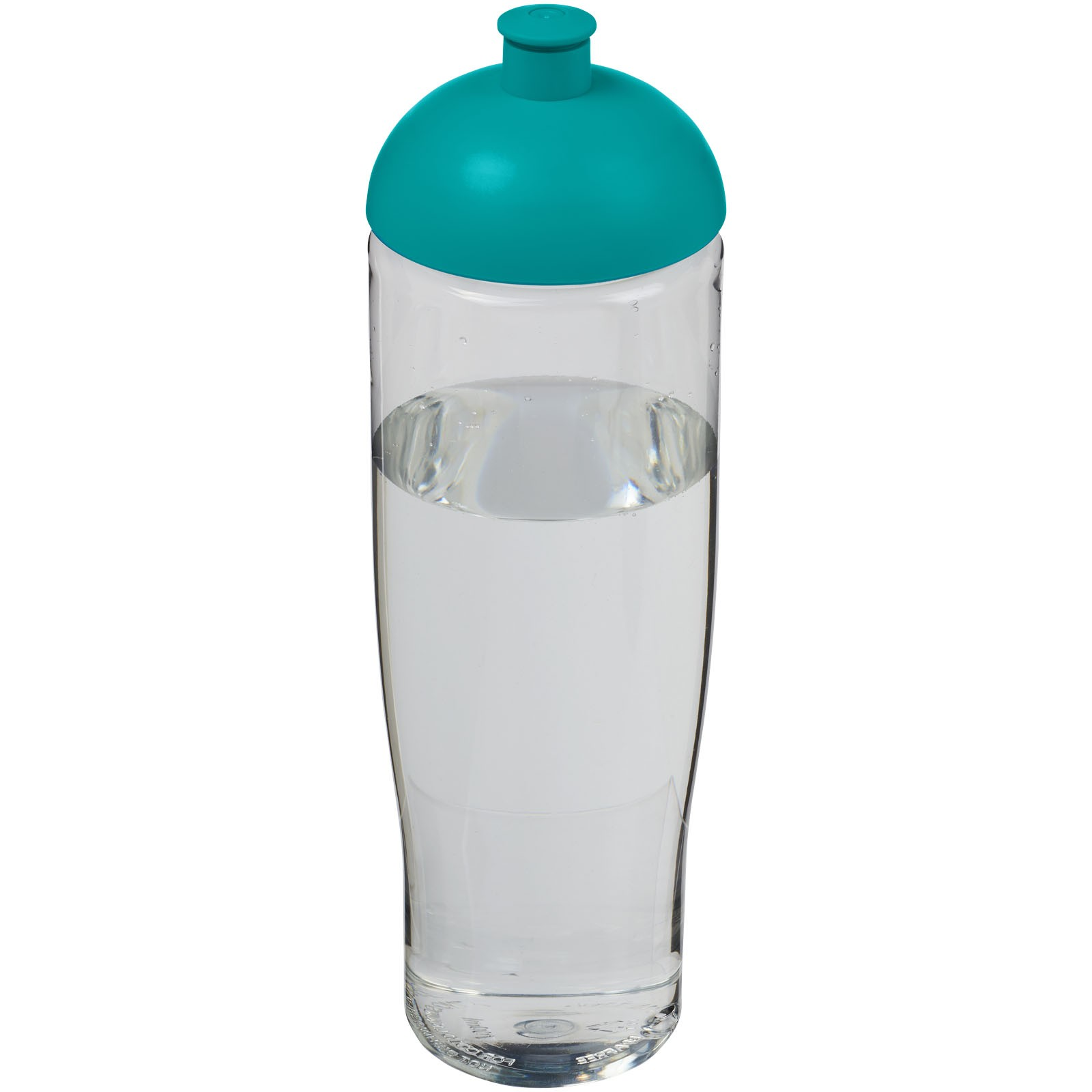 H2O Tempo® Bidón deportivo con Tapa Dome de 700 ml - Transparente / Azul aqua