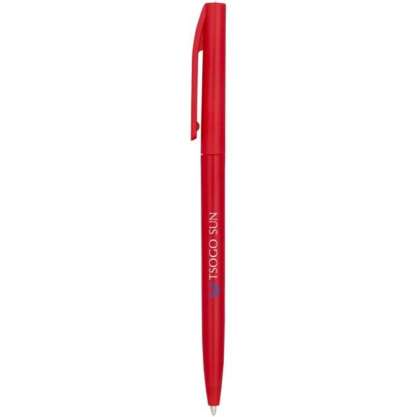 Pevné kuličkové pero Mondriane - Červená s efektem námrazy