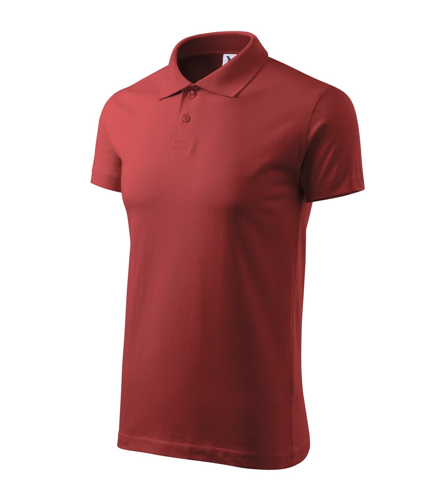 Polo Shirt men's Malfini Single J. - Burgundy / 2XL