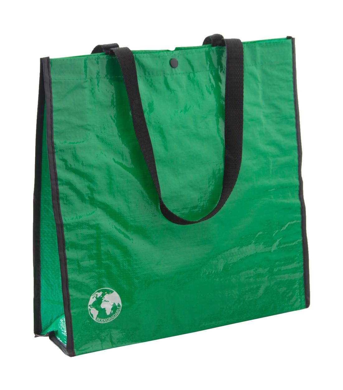 Nákupní Taška Z Recyklovaného Materiálu Recycle - Zelená / Černá