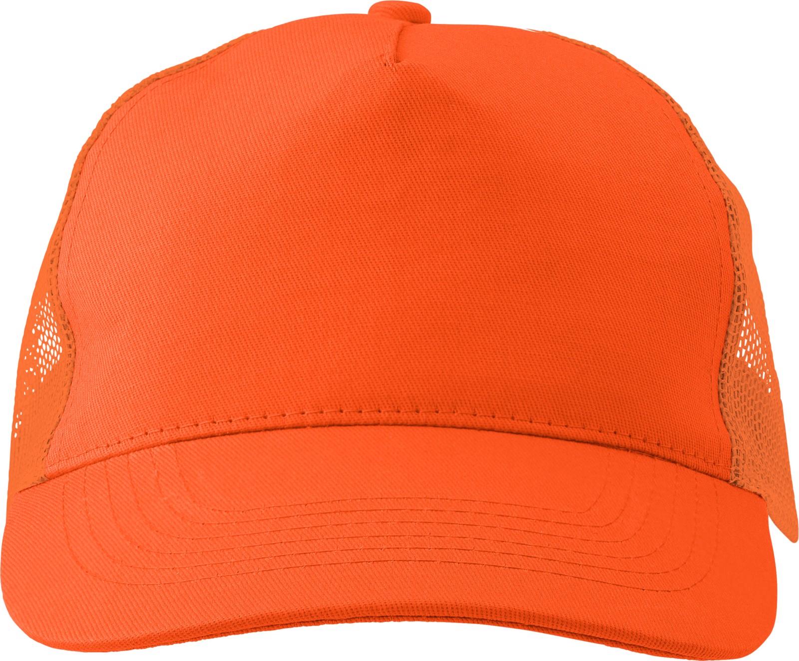 Cotton twill and plastic cap - Orange