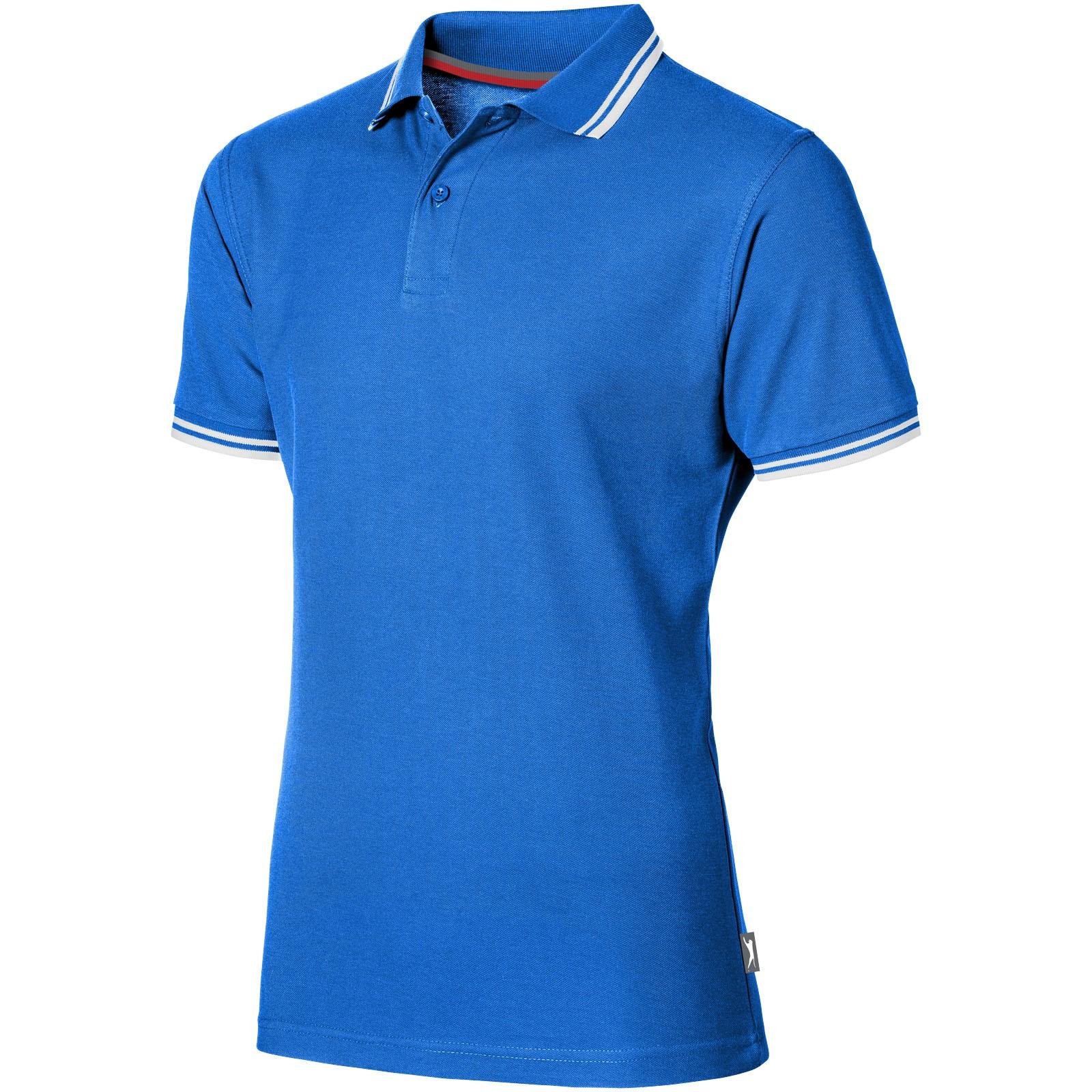Deuce Poloshirt mit weißem Rand für Herren - Himmelblau / L