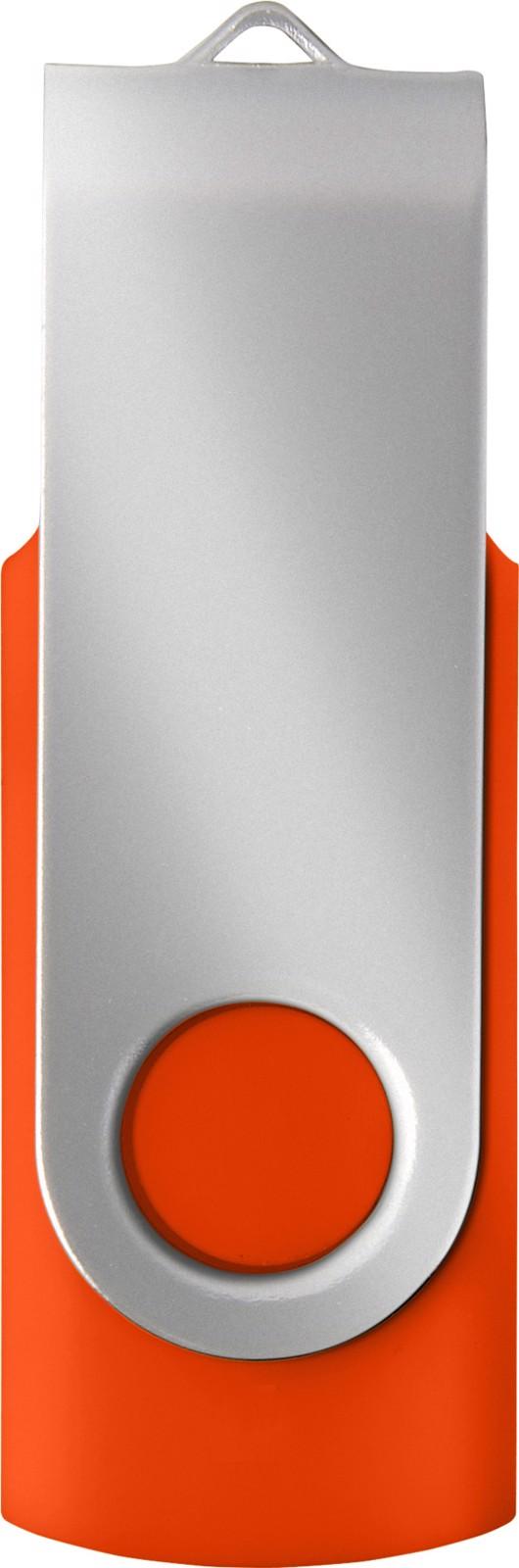 ABS USB drive (16GB/32GB) - Orange / Silver