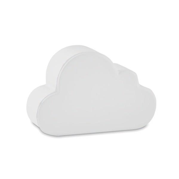 Felhő alakú stresszlabda Cloudy - fehér-TESZT