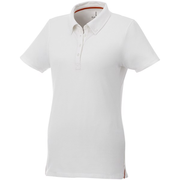 Atkinson short sleeve button-down women's polo - White / S
