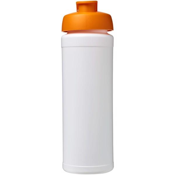 Sportovní láhev s vyklápěcím víčkem Baseline® Plus grip 750 ml - Bílá / 0ranžová