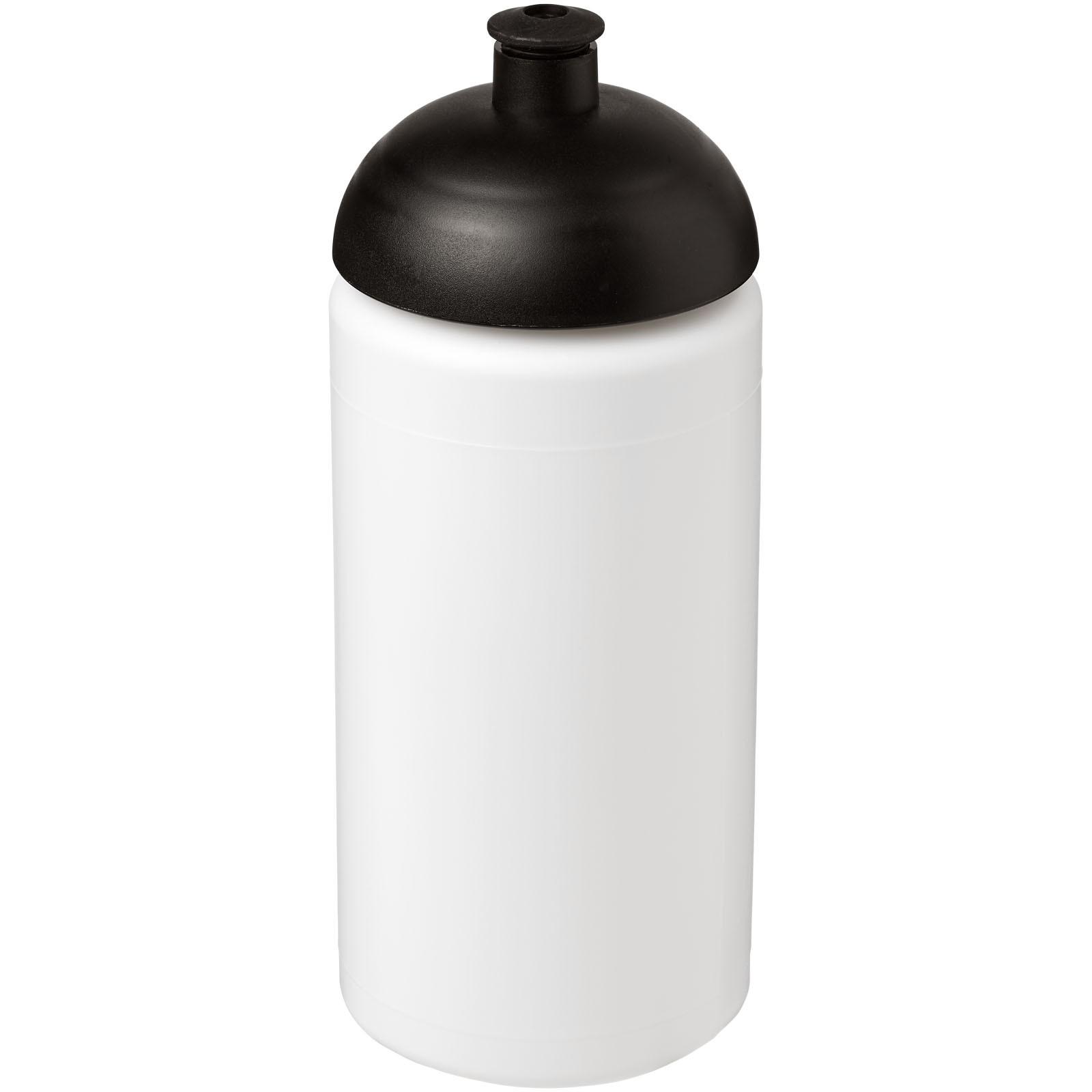 Sportovní láhev s kupolovitým víčkem Baseline® Plus grip 500 ml - Bílá / Černá