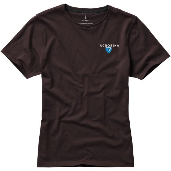 Dámské triko Nanaimo s krátkým rukávem - Čokoládově hnědá / XXL