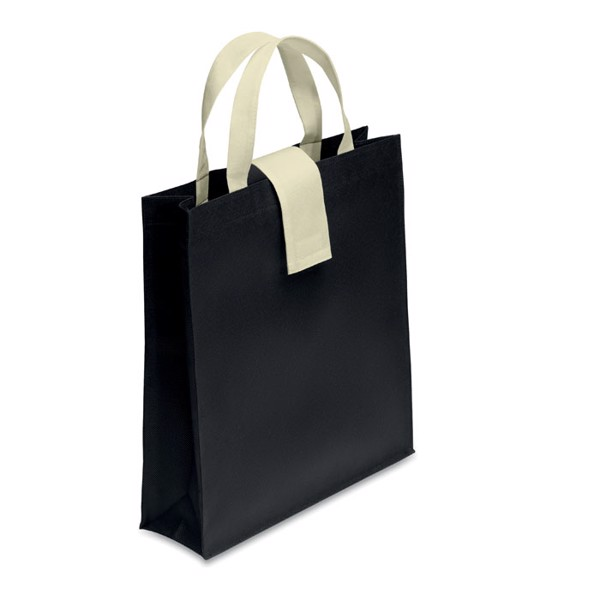 Nonwoven shopping bag Folby - Black
