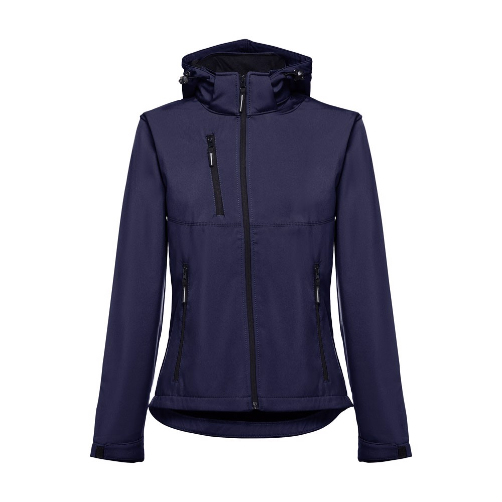 THC ZAGREB WOMEN. Dámská softshellová bunda se snímatelnou kapucí - Námořnická Modrá / S