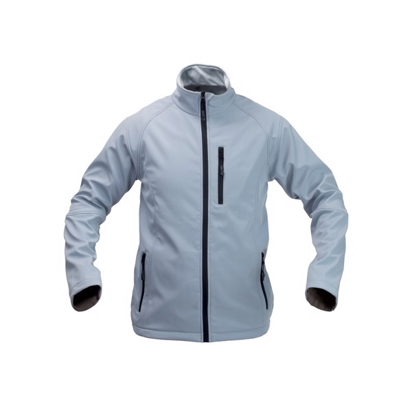 Soft Shell Kabát Molter - Világos Szürke / Fekete / XL
