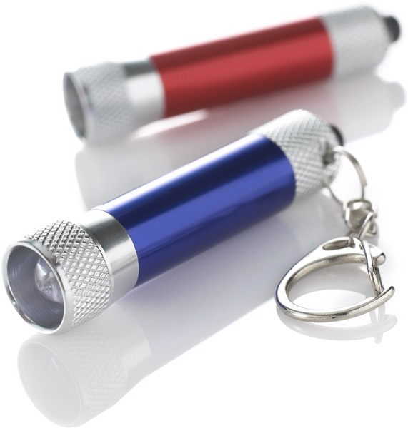 Aluminium 2-in-1 key holder - Cobalt Blue