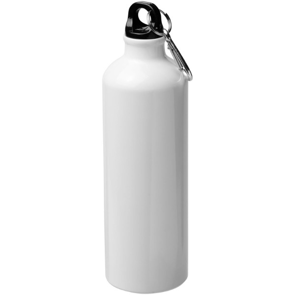 Pacific 770 ml sublimační sportovní lahev s karabinou - White Solid